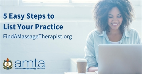 Five easy steps to list your practice find a massage therapist AMTA