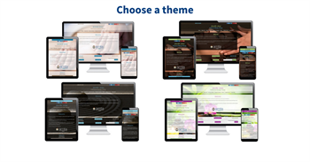 Step 1 in website setup - choose a theme